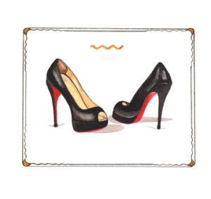 rote louboutin sohle